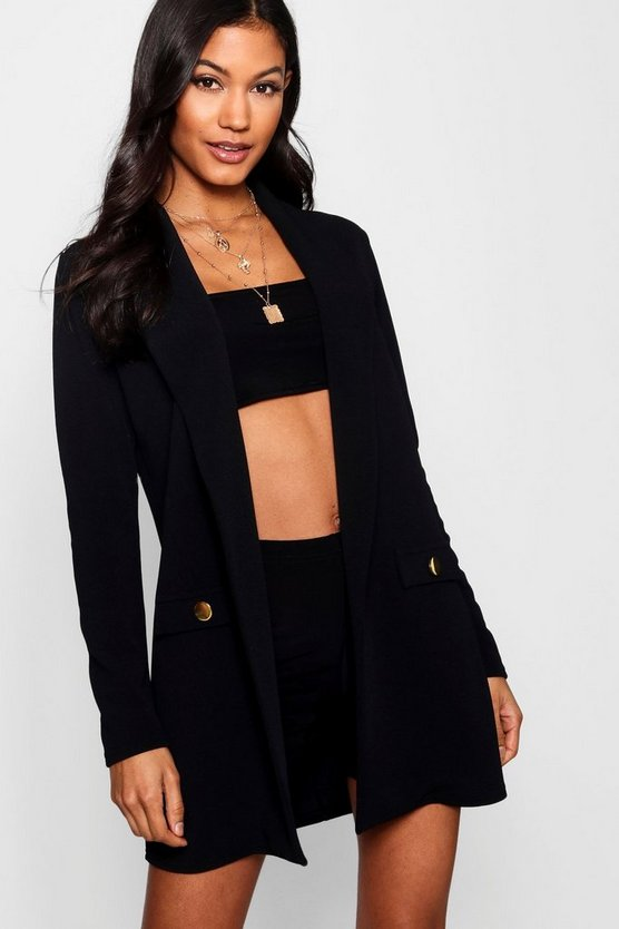 Longline Collared Pocket Detail Duster