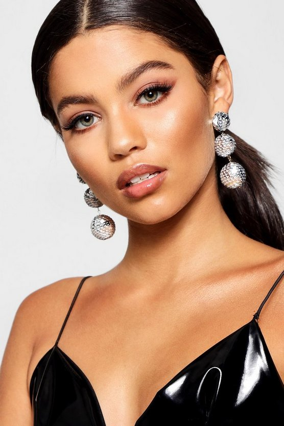 Sequin Disco Ball Statement Earrings