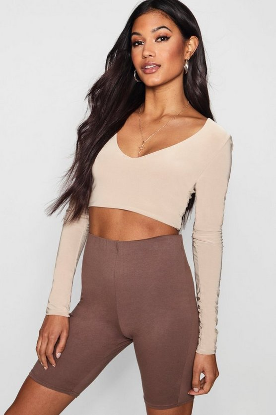 Narrinder V Neck Slinky Crop