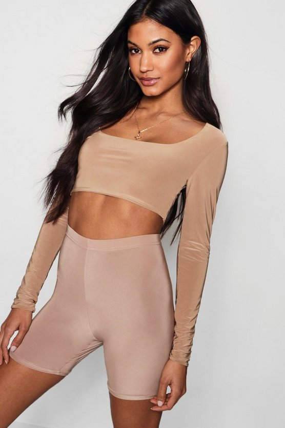 Aria Square Neck Double Layer Slinky Crop