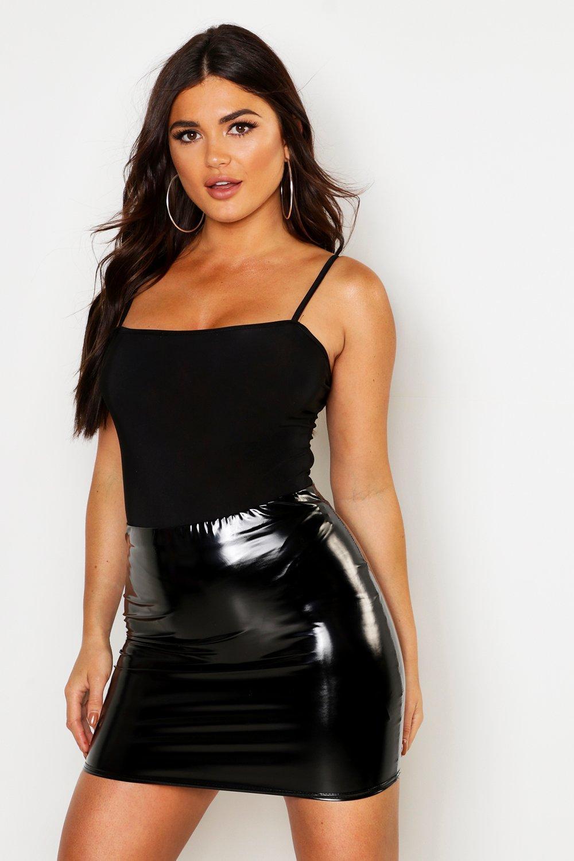 SALE High Waist Vinyl Mini Skirt