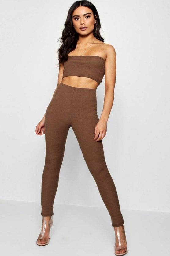 Charlie Bandeau Crop Legging Knitted Set