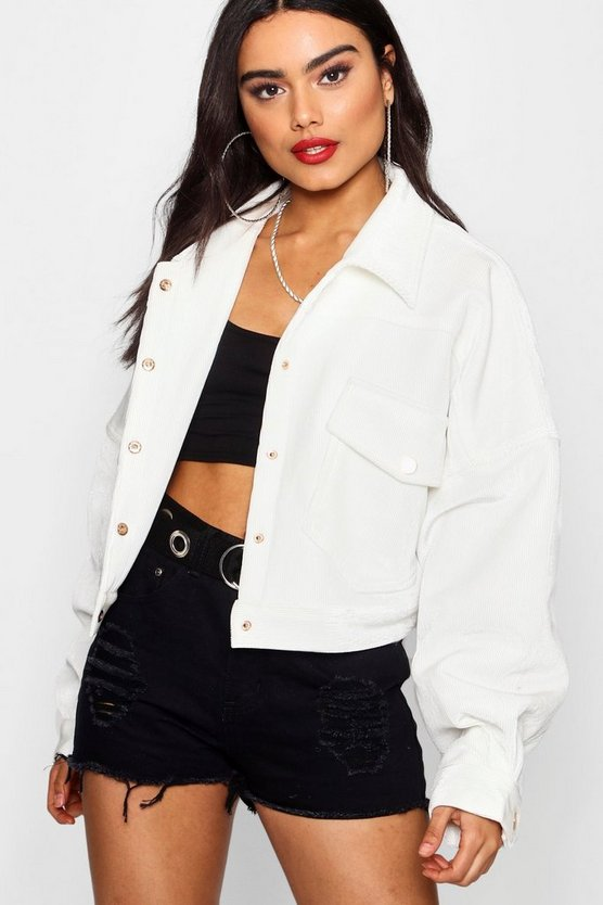 Dani Cord Trucker Jacket by Boohoo