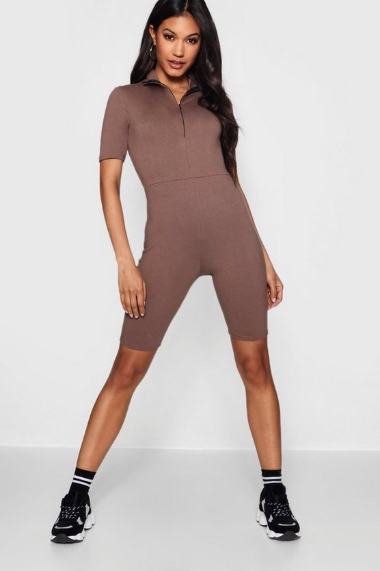 Amber Cotton Stretch Unitard