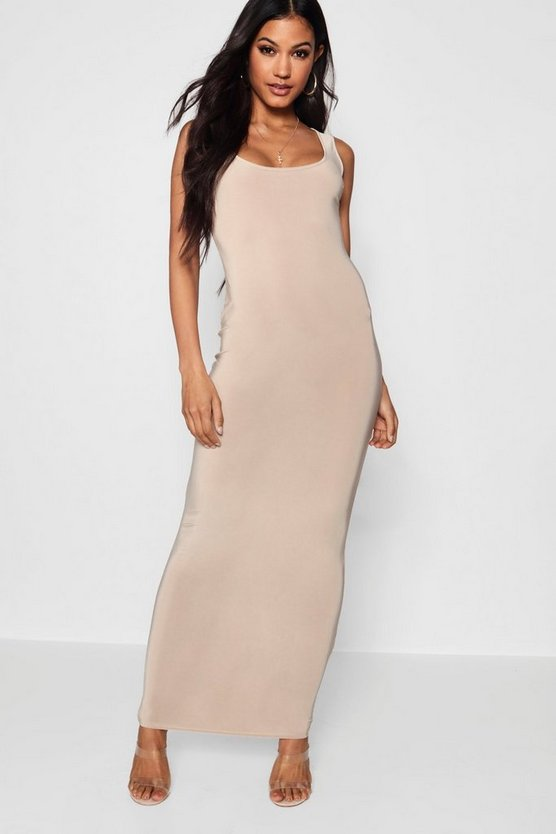 Slinky Square Neck Maxi Dress