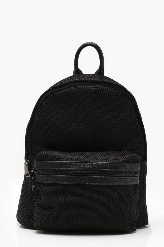 Mesh And Pocket Rucksack