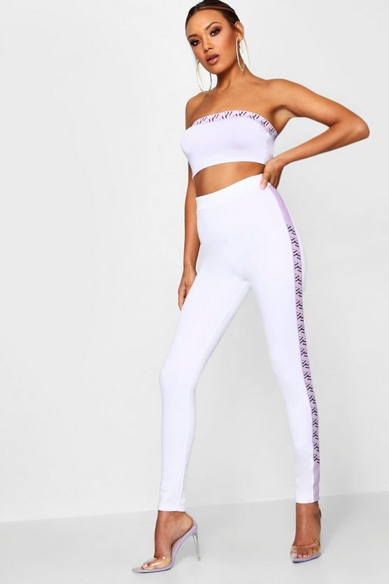 Pastel Print Sports High Waisted Trouser