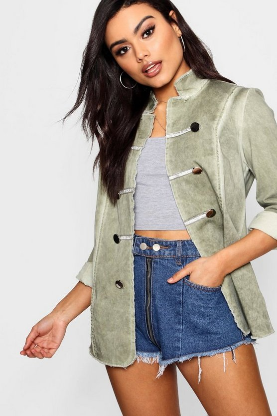 Amy Vintage Wash Military Jacket