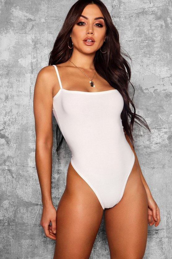 Skinny Sqaure Neck High Rise Bodysuit