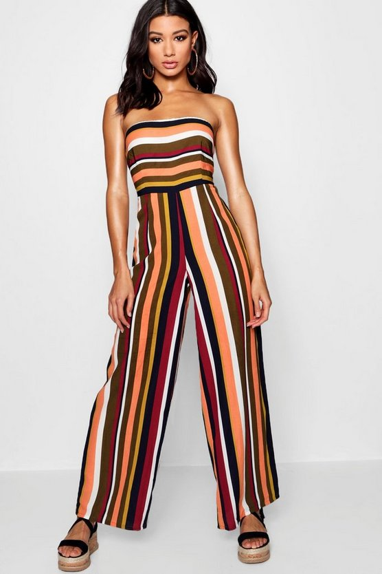 Amy Stripe Bandeau Jumpsuit