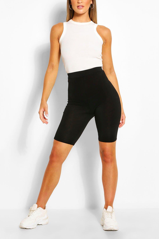 Купить Shorts, Однотонный черный Шорты для езды на велосипеде, boohoo