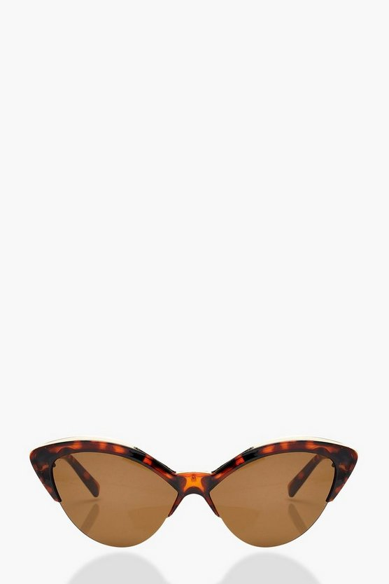 Zoe Tortoiseshell Cat Eye Sunglasses