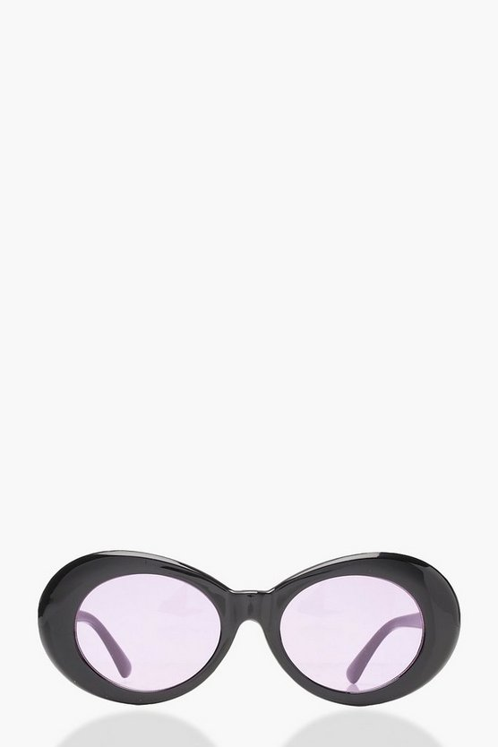 Grace Lilac Lens Oval 90's Sunglasses