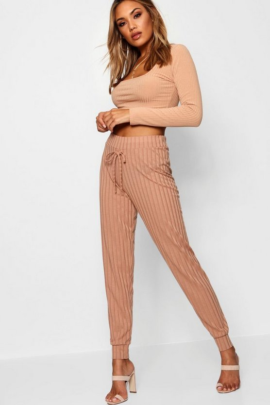 Rib Knit High Waisted Jogger