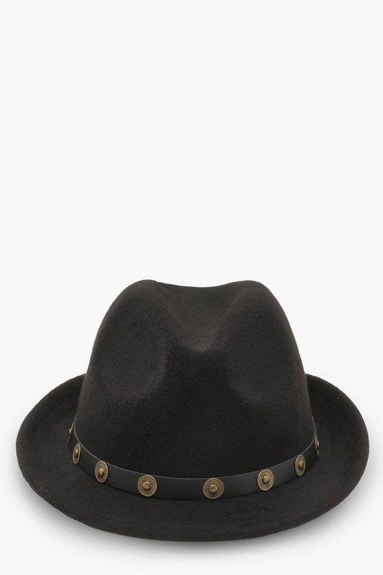 Kelly Metal Trim Western Trilby