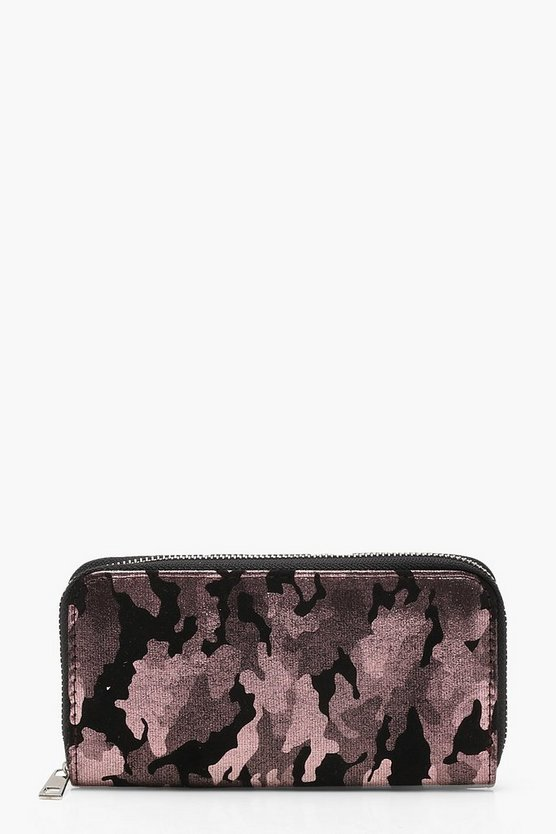 Julia Metallic Camo Purse