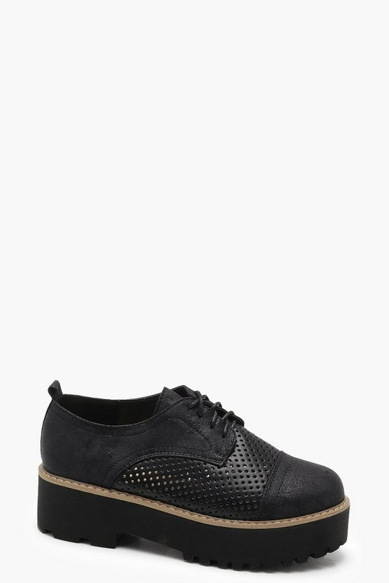 Chunky Platform Lace Up Brogues