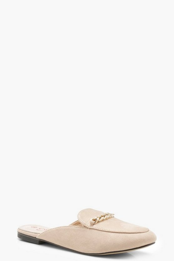 Eliza Chain Trim Mule Loafers