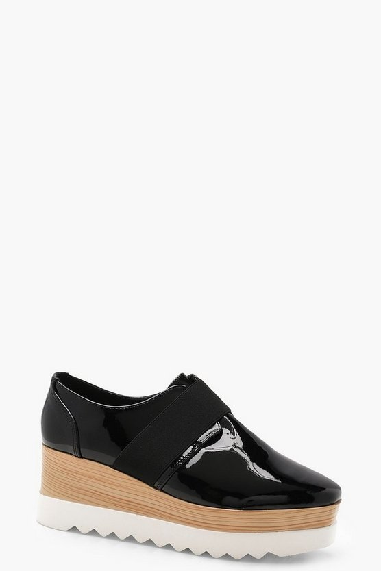 Paige Elastic Strap Cleated Brogues