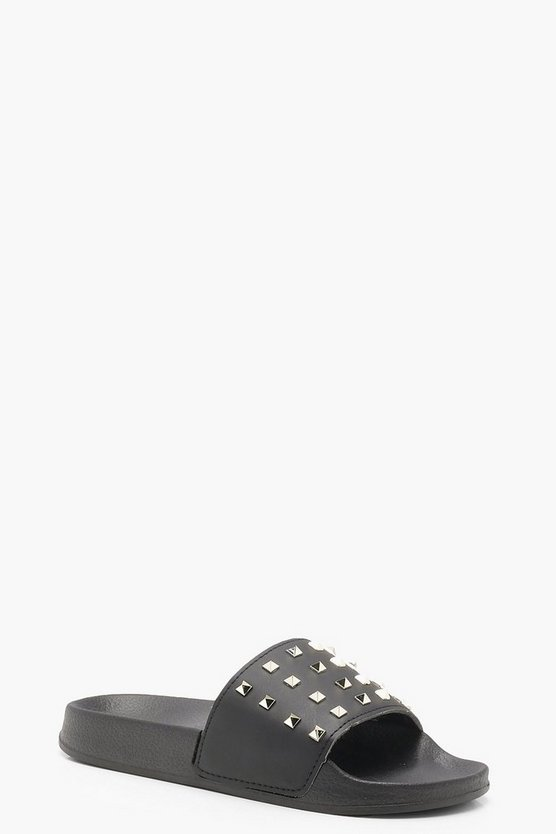 Shona Wide Fit Studded Sliders