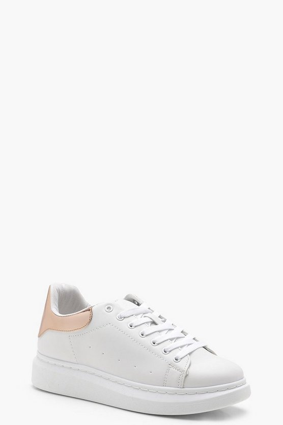 Penny Platform Lace Up Trainers