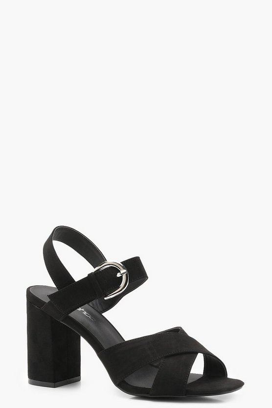 Freya Wide Fit Cross Strap Block Heels