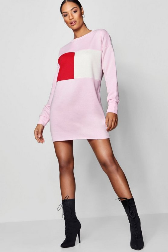 Colour Block Sweat Dress