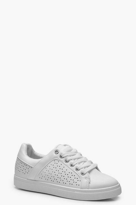 Sophia Lazer Cut Panel Trainers