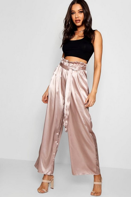 Amy Wide Leg Paper Bag Trouser