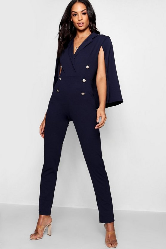 Emily Military Caped Jumpsuit