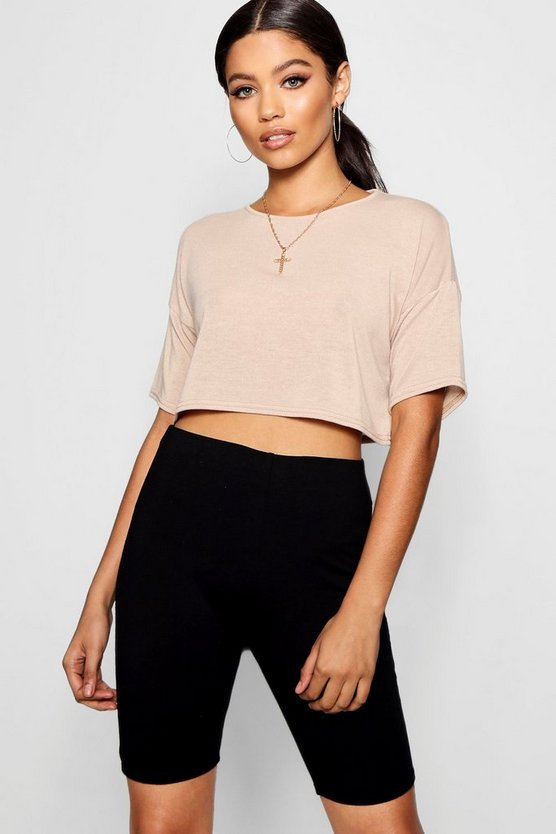 Oversized Boxy Crop Knitted Top