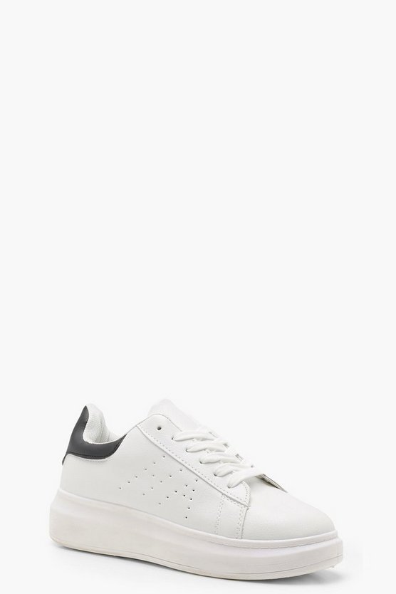 Lacey Platform Contrast Back Trainers
