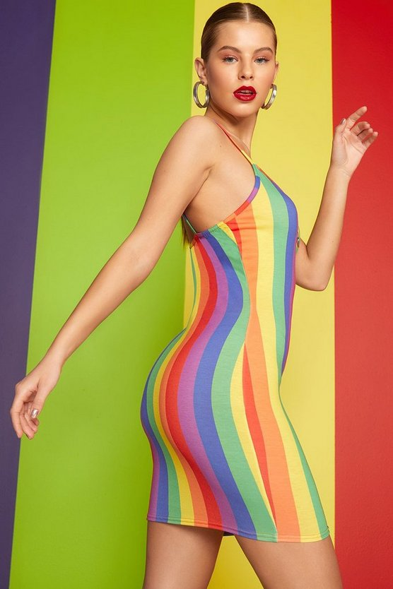 Lucy Rainbow Stripe O-Ring Dress