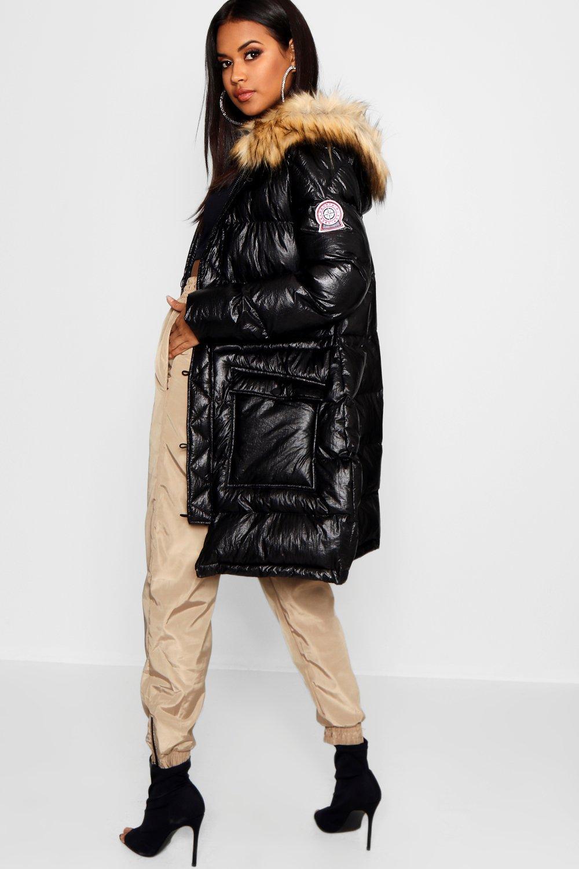 Купить Coats & Jackets, Матовый спортивный пуховик металлик, boohoo