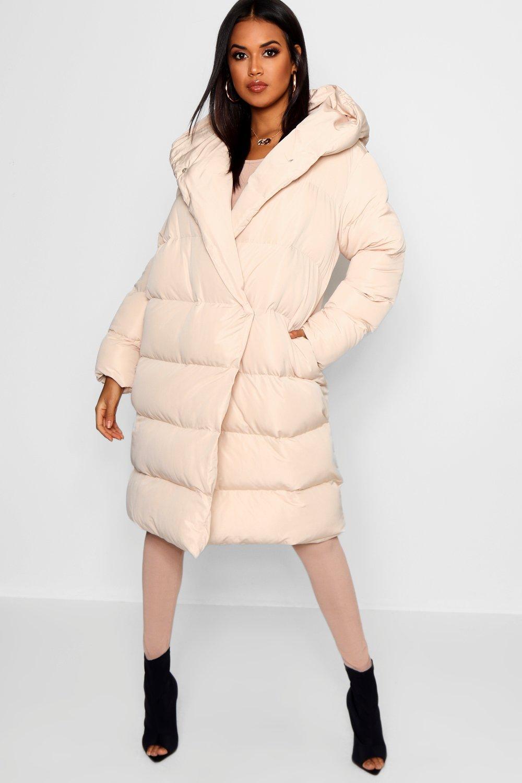 Купить Coats & Jackets, Пальто-дувет с запахом, boohoo