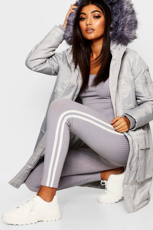 Купить Coats & Jackets, Спортивная парка с отделкой из искусственного меха, boohoo