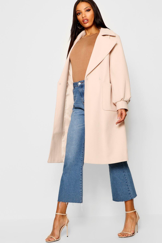 Купить Coats & Jackets, Шерстяное пальто с объемными рукавами, boohoo