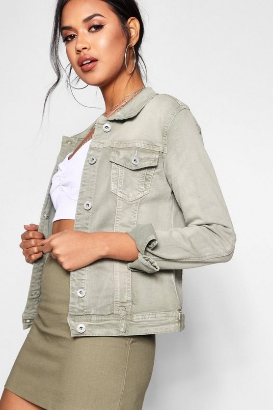 Jade Cotton Twill Jacket