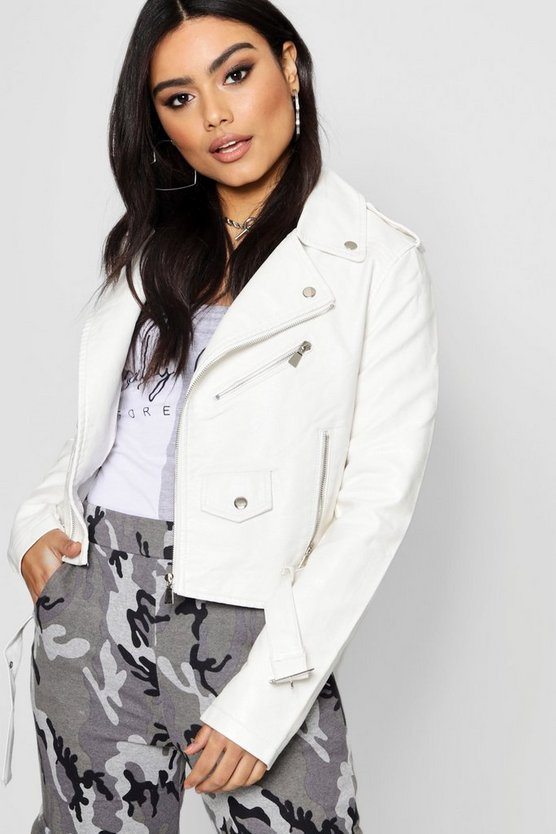 Zoe Faux Leather Biker Jacket