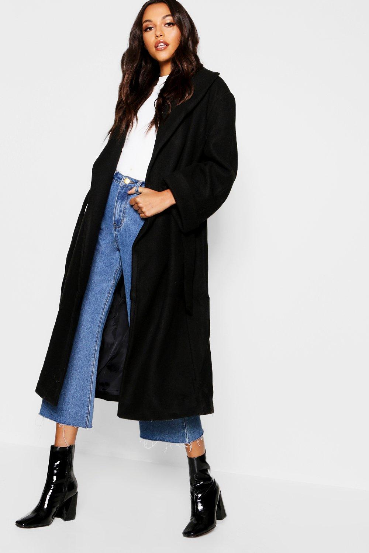 Купить Coats & Jackets, Пальто-халат оверсайз с поясом, boohoo