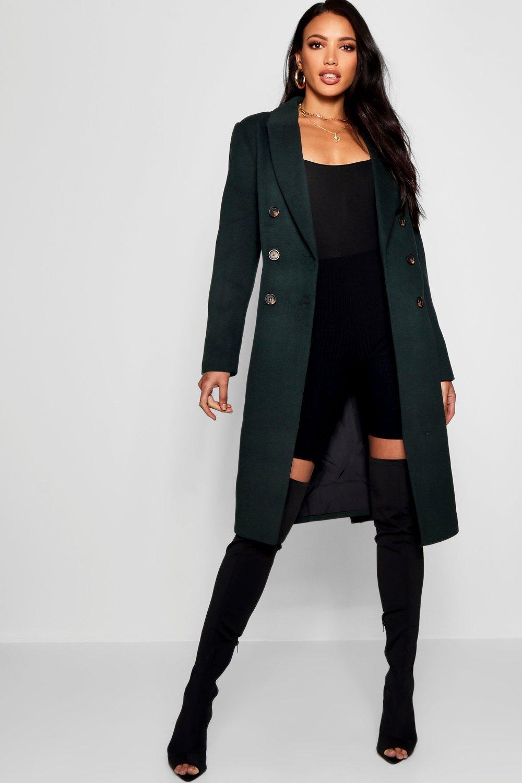 Купить Coats & Jackets, Double Breasted Wool Look Coat, boohoo