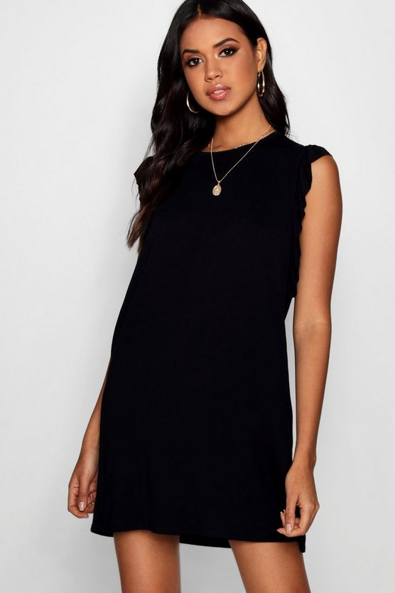 Ava Ruffle Detail Jersey Shift Dress