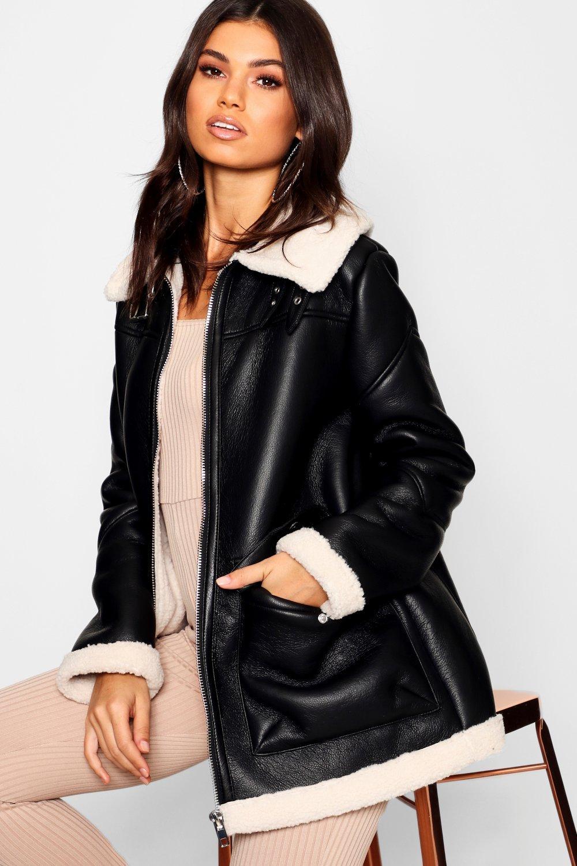 Купить Coats & Jackets, Летная куртка Borg с воротником, boohoo