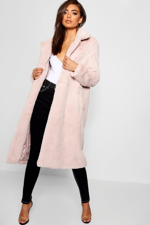 Купить Coats & Jackets, Мягкое макси-платье Пальто из искусственного меха, boohoo