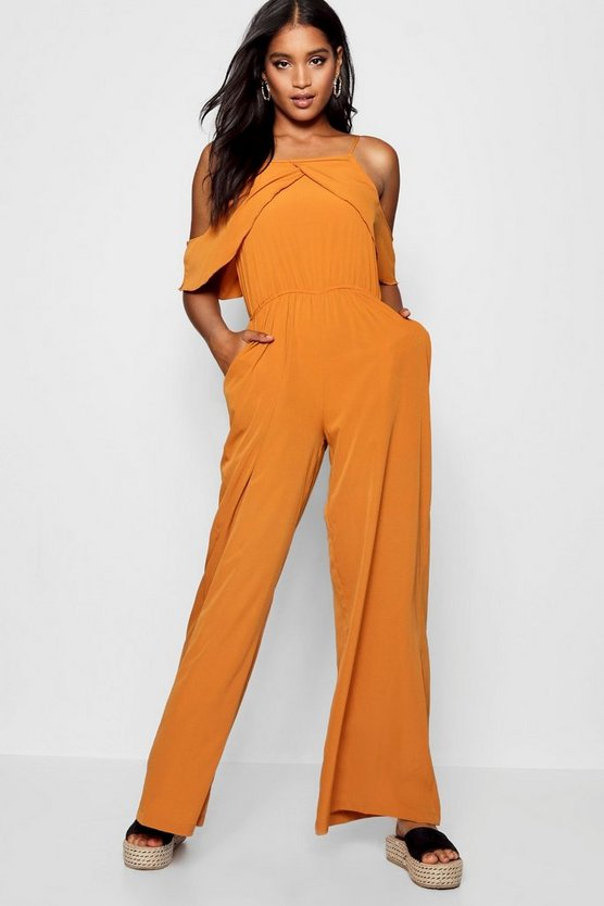 Open Shoulder Jumpsuit