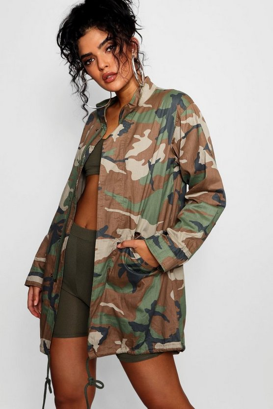 Jacke in Camouflage-Print