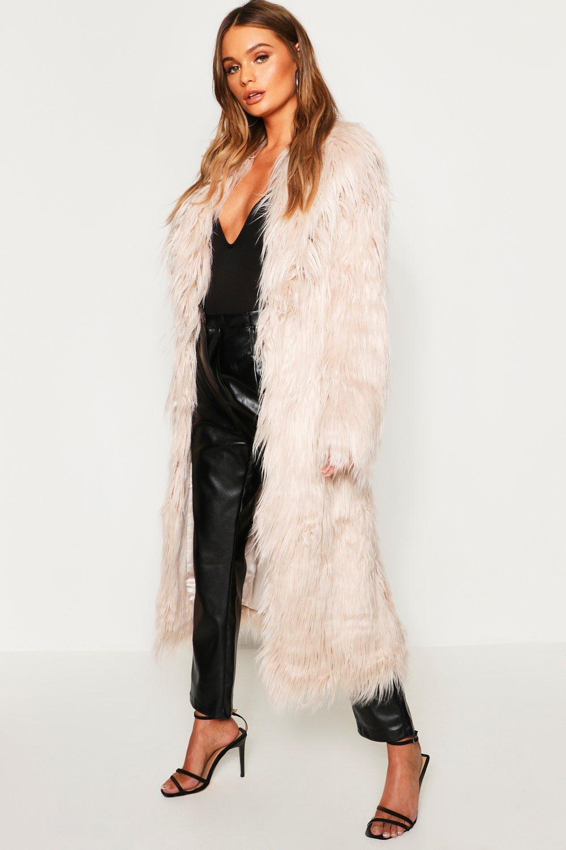 Купить Coats & Jackets, Пальто-макси из монгольского искусственного меха, boohoo
