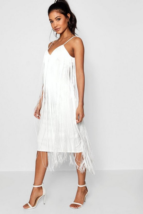 Josephine Tassel Midi Dress by Boohoo
