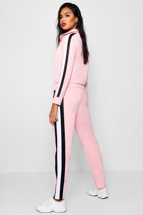 Sophia Contrast Stripe Panel Track Pants