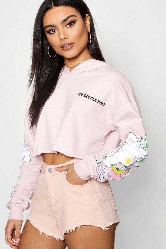 My Little Pony Cropped Hoody by Boohoo